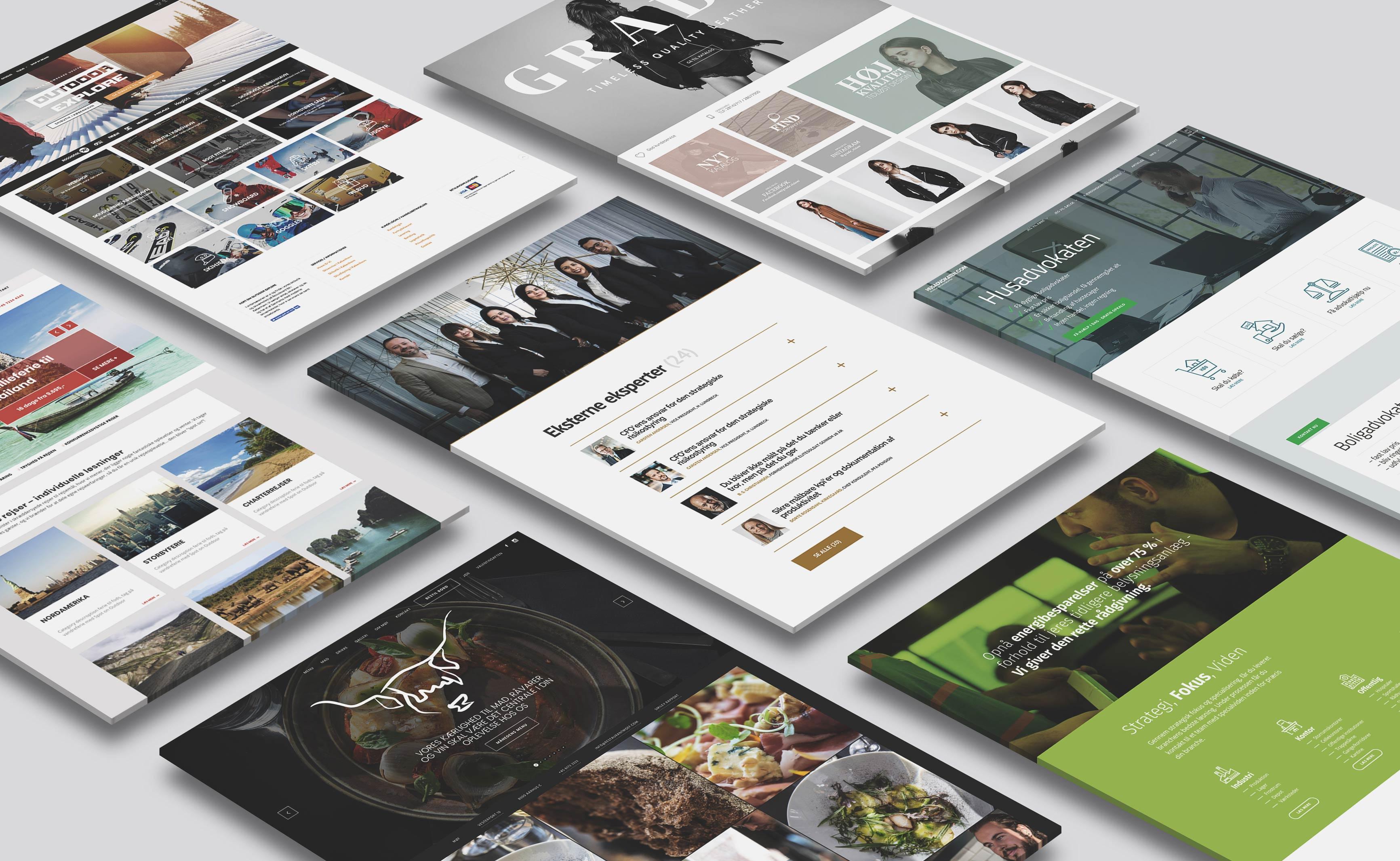 Professionel hjemmeside med webshop